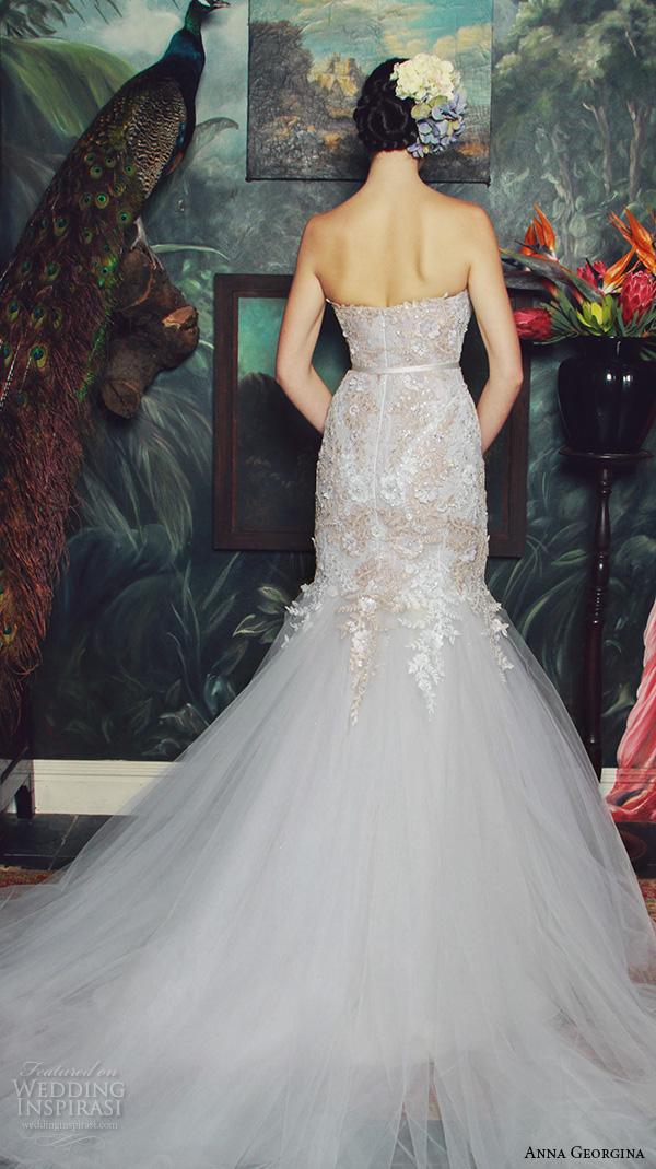 anna georgina 2015 bridal strapless sweetheart neckline embroidery bodice trumpet mermaid wedding dress daniella back