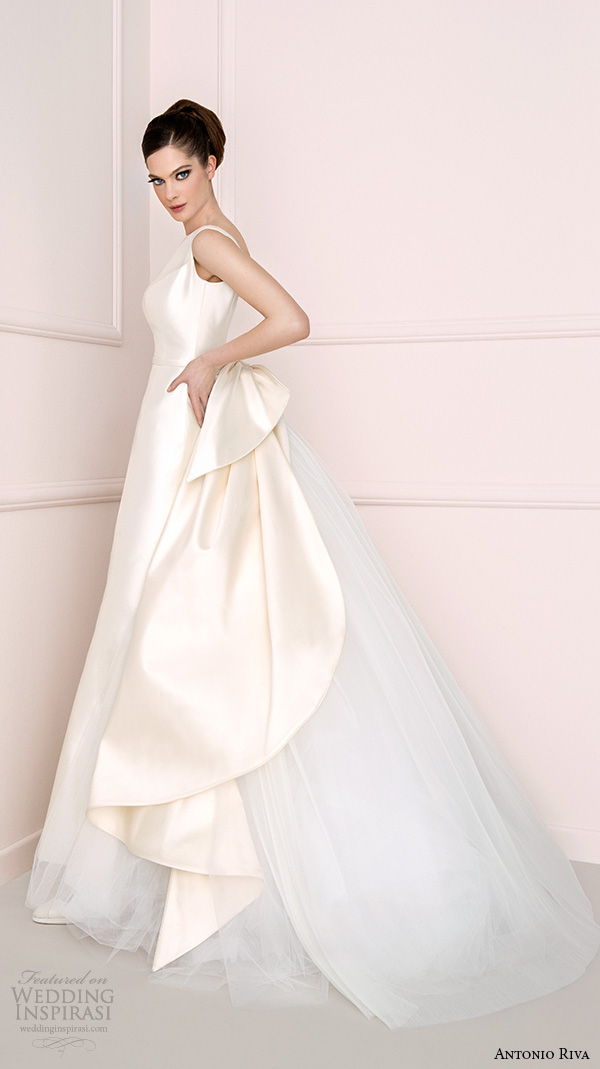 Antonio Riva 2016 Bridal Dresses Clean Chic Campaign A Line Wedding Dress With Chapel Train Ariel