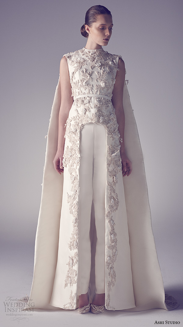 Ashi studio spring 2015 couture collection wedding inspirasi for Wedding dress with cape train