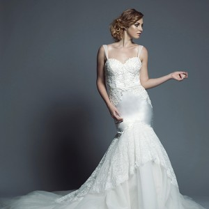 carita adams 2015 bridal tulle strap sweetheart neckline bustier bodice trumpet mermaid wedding dress hannah
