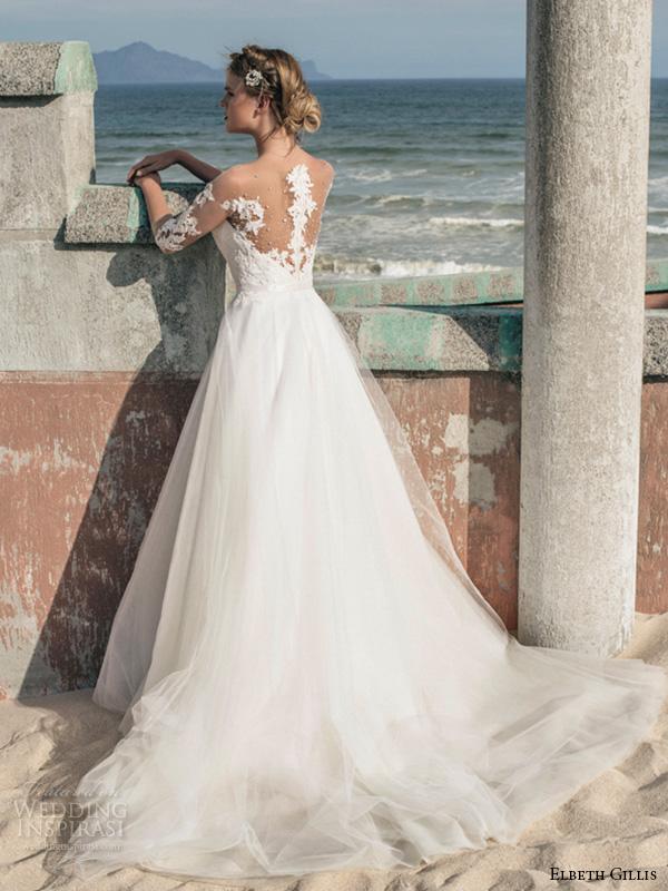 Elbeth gillis 2016 wedding dresses opulence bridal for Illusion sweetheart neckline wedding dress