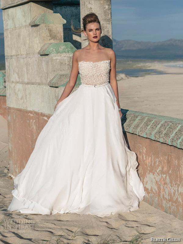elbeth gillis 2016 bridal semi sweetheart neckline beaded bodice a line wedding dress kelly