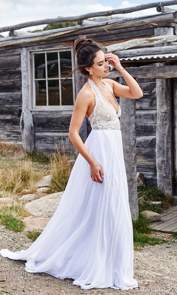 Lace Halter Wedding Dress 28 Superb grace loves lace bridal
