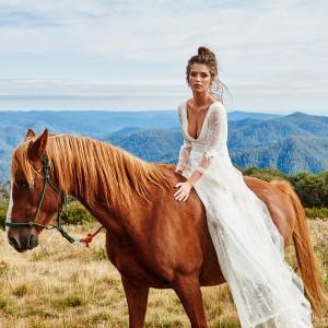 grace loves lace bridal 2015 francis long sleeve french lace v neck wedding dress
