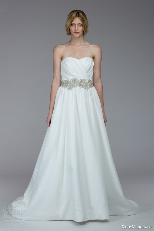kate mcdonald bridal fall 2015 aiken strapless wedding dress