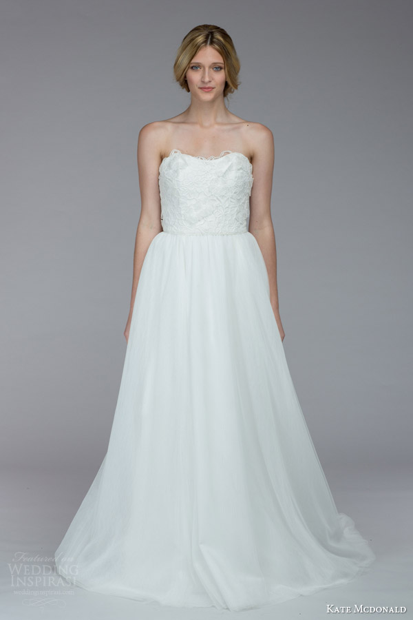 kate mcdonald bridal fall 2015 alston strapless wedding dress