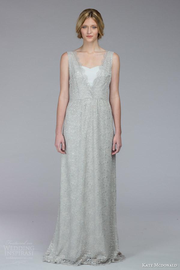 Silver Wedding Gown 46 Vintage kate mcdonald bridal fall