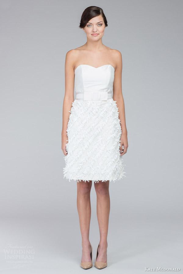 Short Strapless Wedding Dresses 24 Inspirational kate mcdonald bridal fall