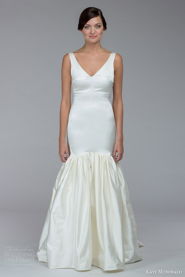 kate mcdonald bridal fall 2015 russell sleeveless mermaid wedding dress v neckline