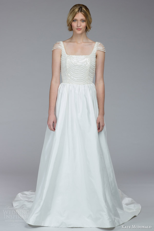 kate mcdonald bridal fall 2015 wintour illusion cap sleeve ball gown wedding dress sequin bodice