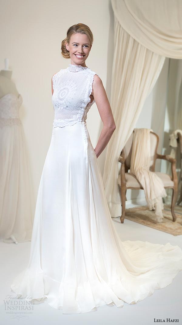 High Neck Wedding Dresses 94 Epic leila hafiz wedding dresses