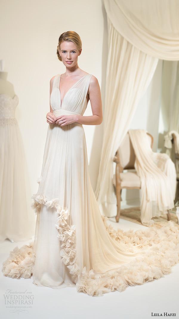 Grecian Wedding Gown 71 Spectacular leila hafiz wedding dresses