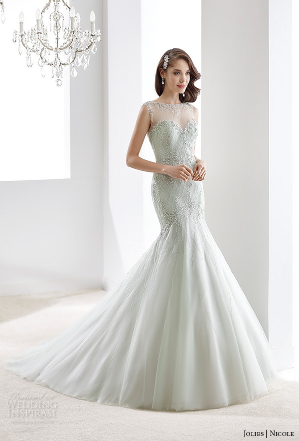 Wedding Dresses With Blue Accents