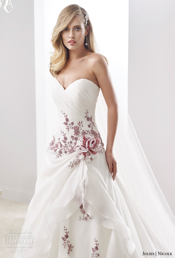 nicole jolies collection 2016 � colored wedding dresses