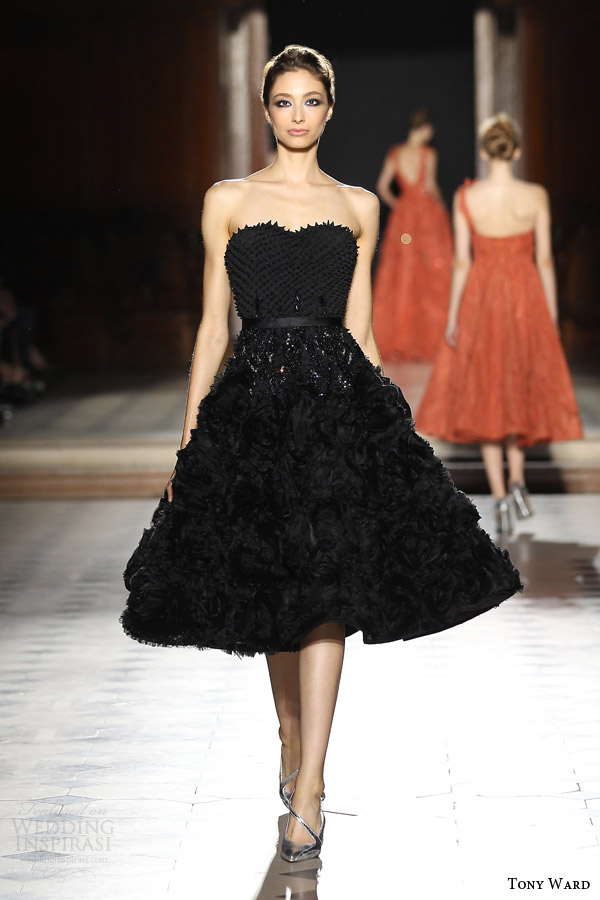 tony ward couture fall winter 2015 2016 look 26 strapless black haute couture dress