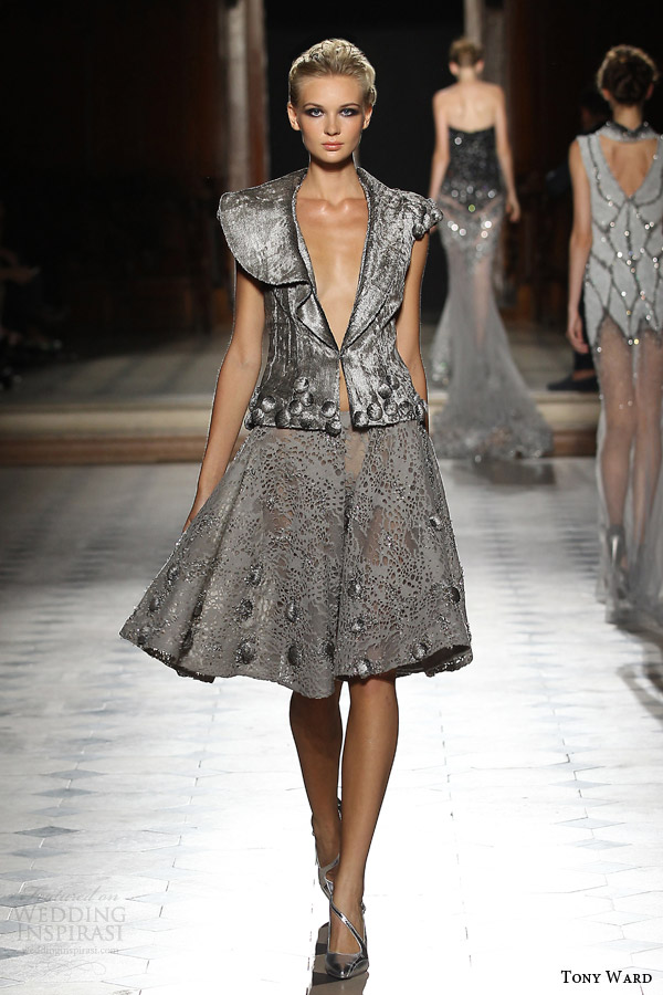 tony ward couture fall winter 2015 2016 look 33 gray haute couture ensemble