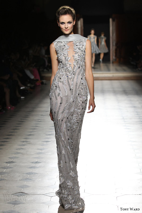 tony ward couture fall winter 2015 2016 look 34 sleevless sheath haute couture gown