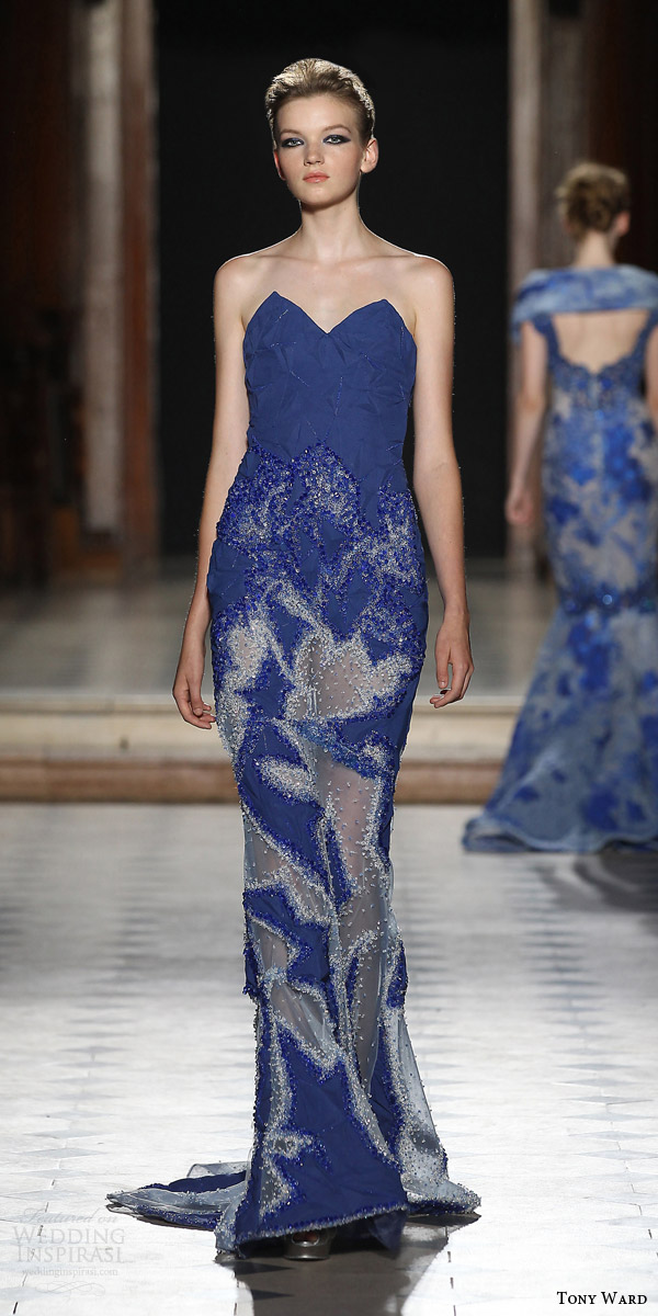 tony ward couture fall winter 2015 2016 look 5 strapless blue evening gown