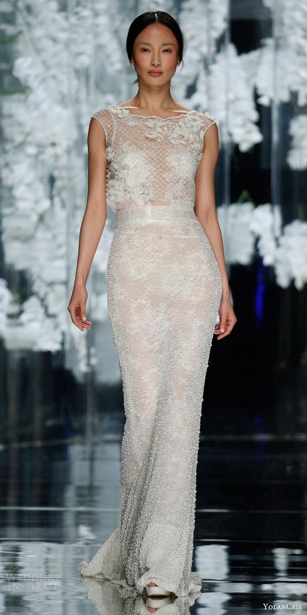 yolan cris wedding dress 2016 orchid bridal collection guinardo cap sleeve lace wedding dress