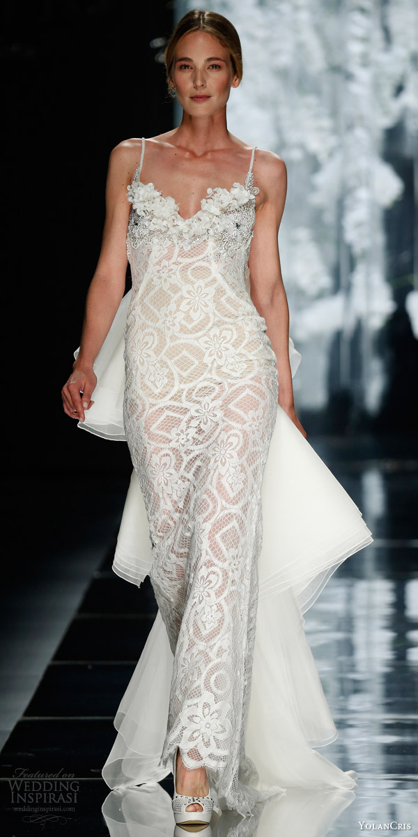 yolancris bridal 2016 verneda sleeveless column sheath wedding dress overskirt train