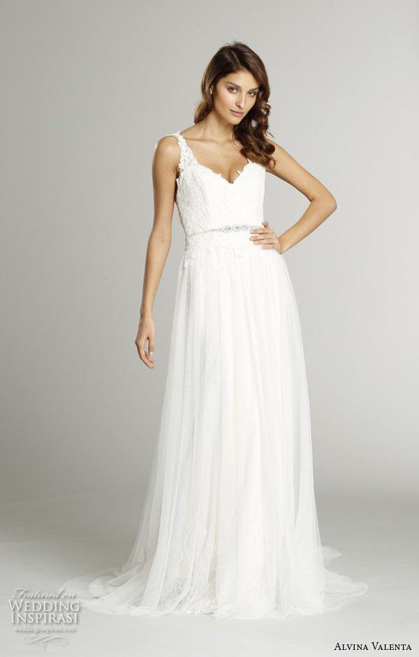 alvina valenta fall 2015 wedding dresses sleeveless v neckline double keyhole back silm a line wedding dress av9558 back view