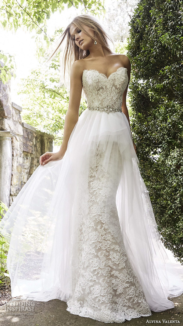 Alvina valenta fall 2015 wedding dresses wedding inspirasi for Sweetheart corset wedding dress