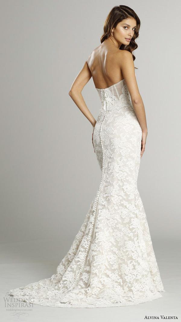 alvina valenta fall 2015 wedding dresses strapless sweetheart neckline corset back trumpet mermaid wedding dress av9553 back view