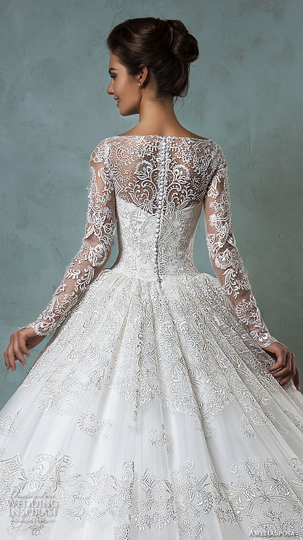 Ball Gown Wedding Dresses With Lace Back : Amelia sposa wedding dresses volume