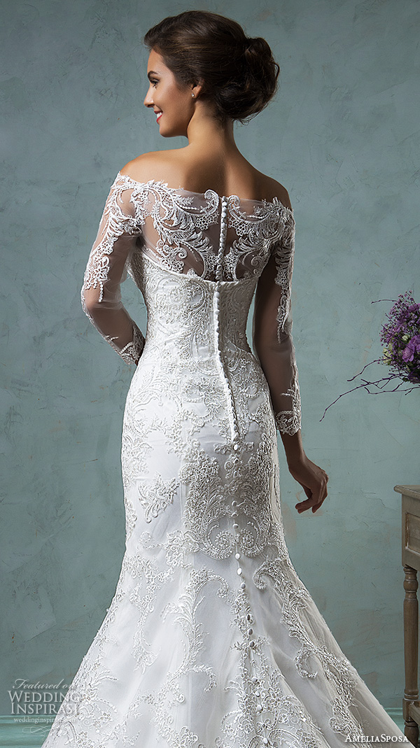 Off The Shoulder Lace Wedding Dress