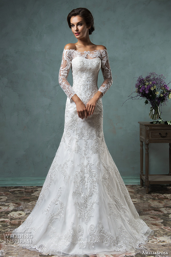 Amelia sposa 2016 wedding dresses volume 2 wedding for Long sleeve lace wedding dresses