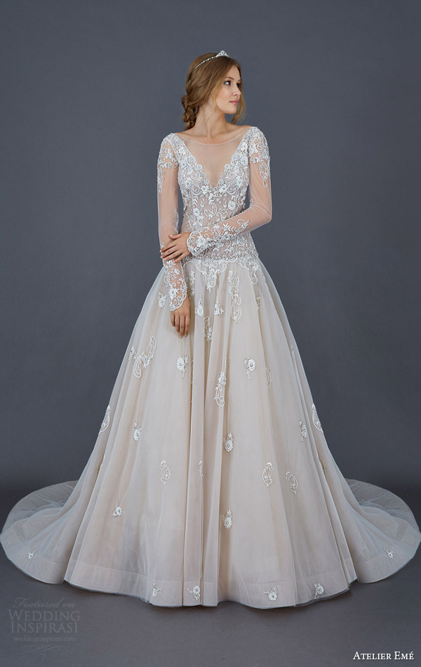 Ball Gown Wedding Dresses With Color : Atelier eme wedding dresses inspirasi