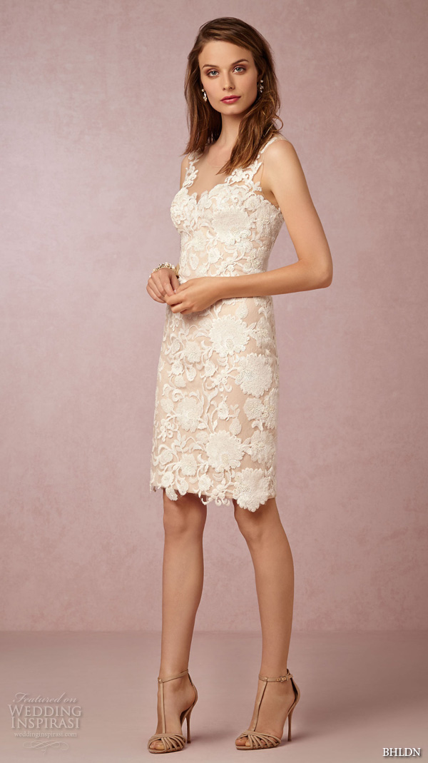 Bhldn fall 2015 wedding dresses twice enchanted for Short sheath wedding dress