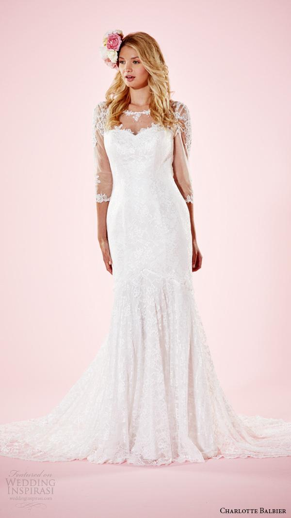 3 4 Sleeves Wedding Dresses 38 Trend charlotte balbier bridal dresses