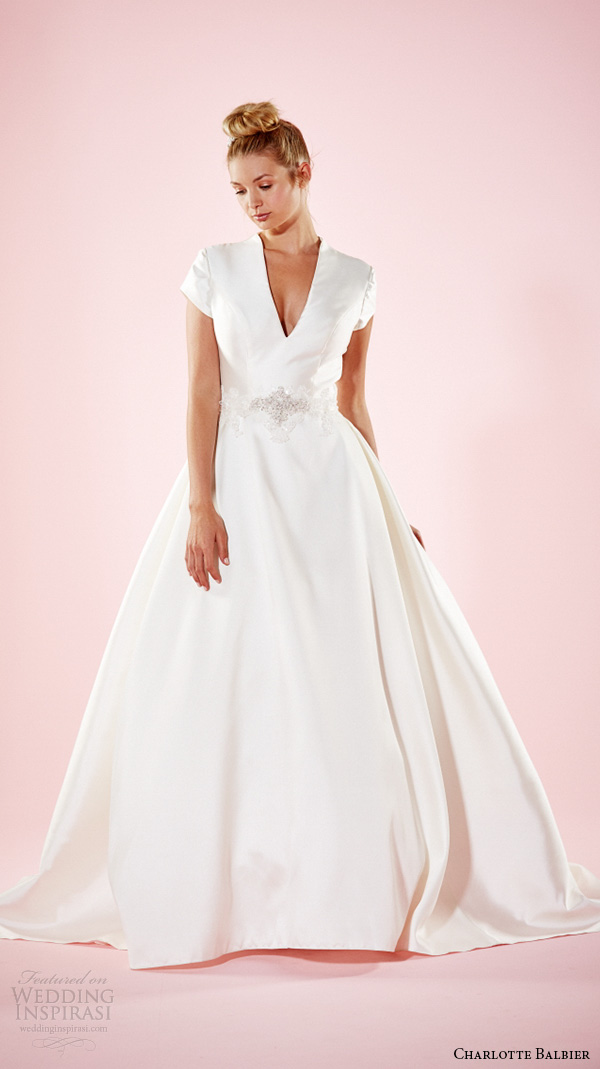 Charlotte balbier 2016 willa rose lookbook wedding for Long sleek wedding dresses
