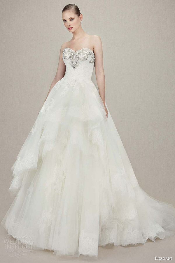 Tiered Wedding Dresses 96 Unique enzoani kylee strapless sweetheart