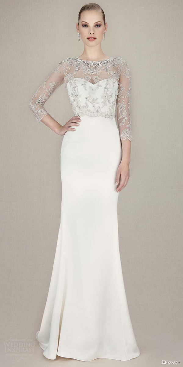 Stunning enzoani 2016 wedding dresses crazyforus for Beaded lace mermaid wedding dress