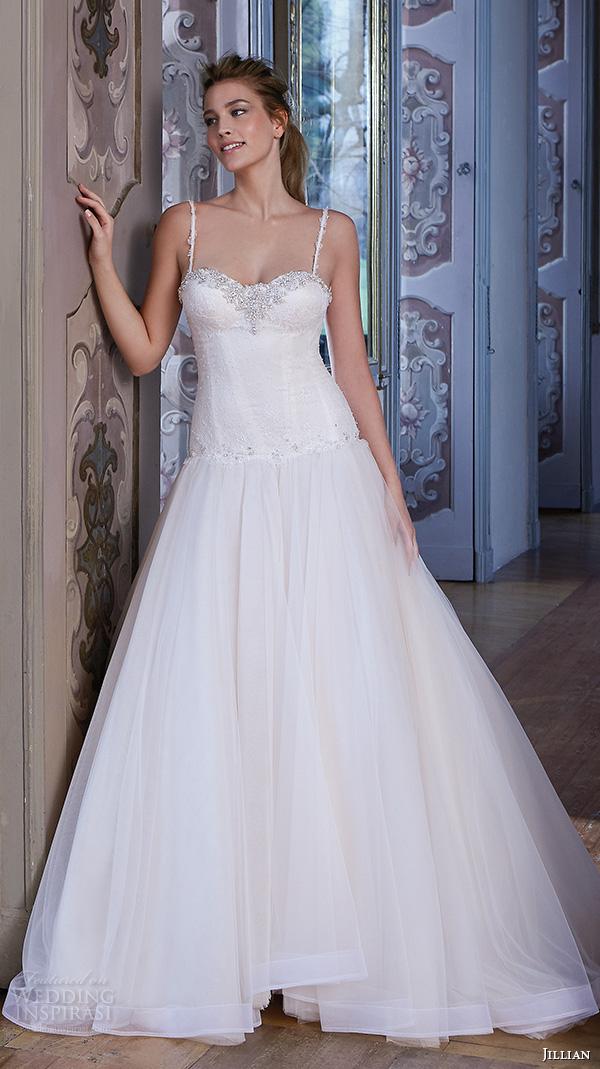 Organza A Line Wedding Dress 40 Good jillian wedding dresses spagetti