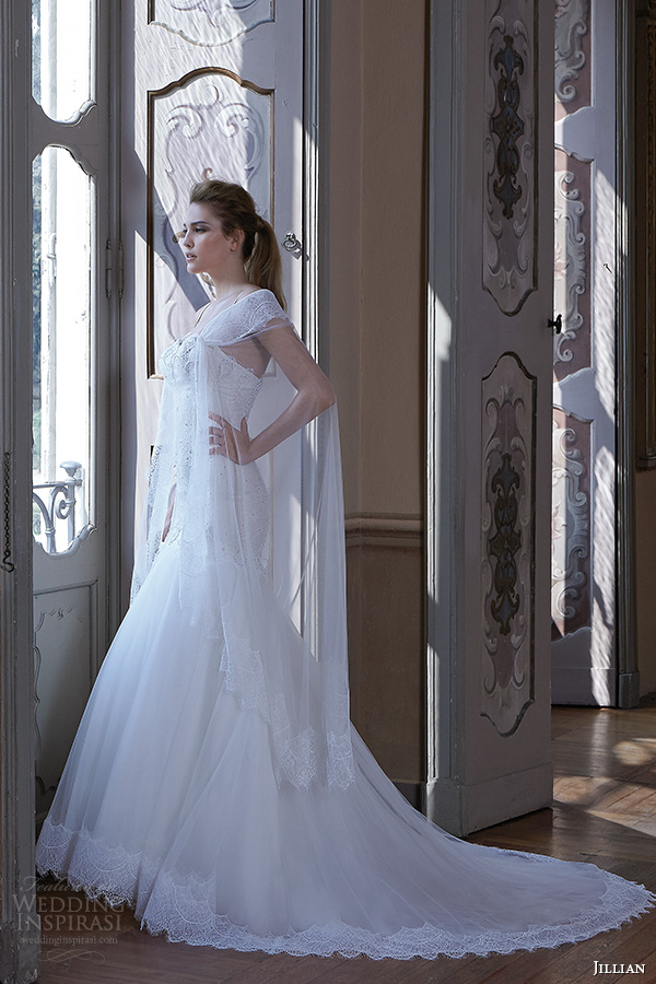 Jillian 2016 wedding dresses bambu bridal collection for Sweetheart neckline drop waist wedding dress