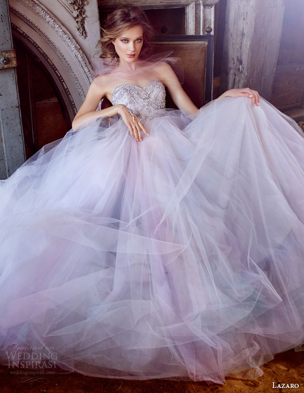 lazaro fall 2015 wedding dresses bridal tulle ball strapless sweetheart jeweled chandelier beaded natural chapel lz3555