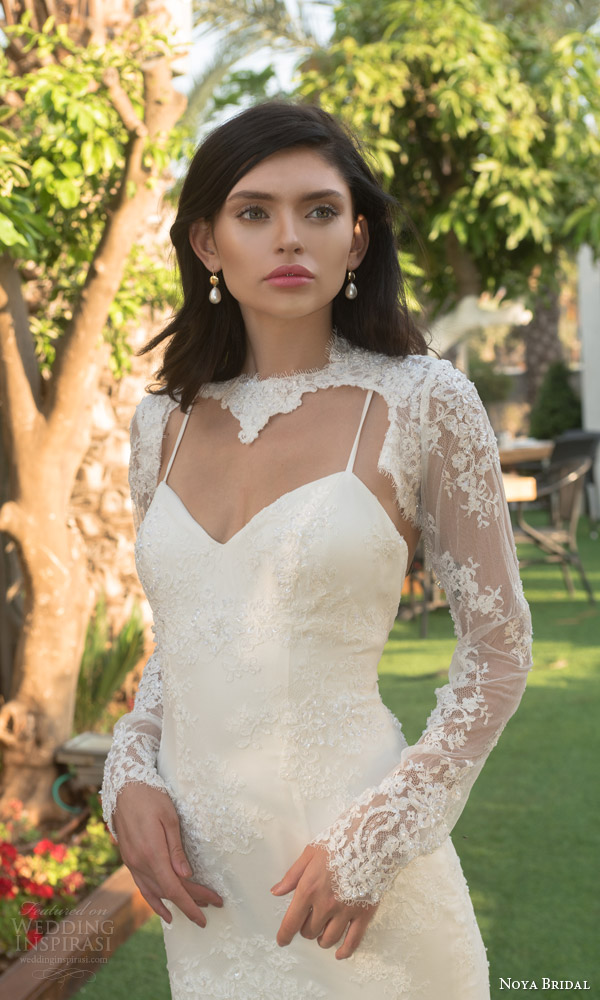 Noya bridal wedding dresses by riki dalal valeria bridal for Long sleeve wedding dress topper