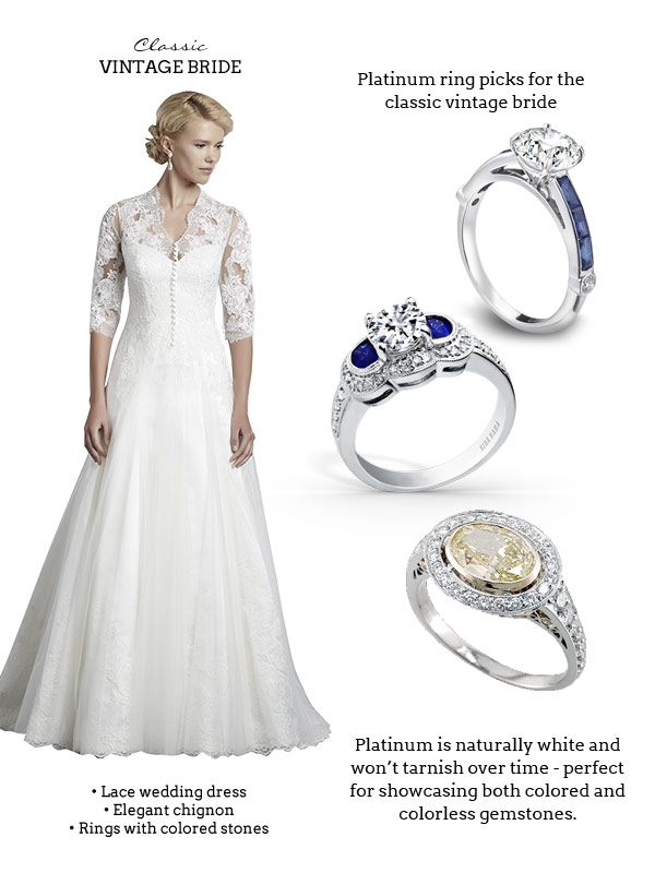 Platinum Colored Wedding Gowns