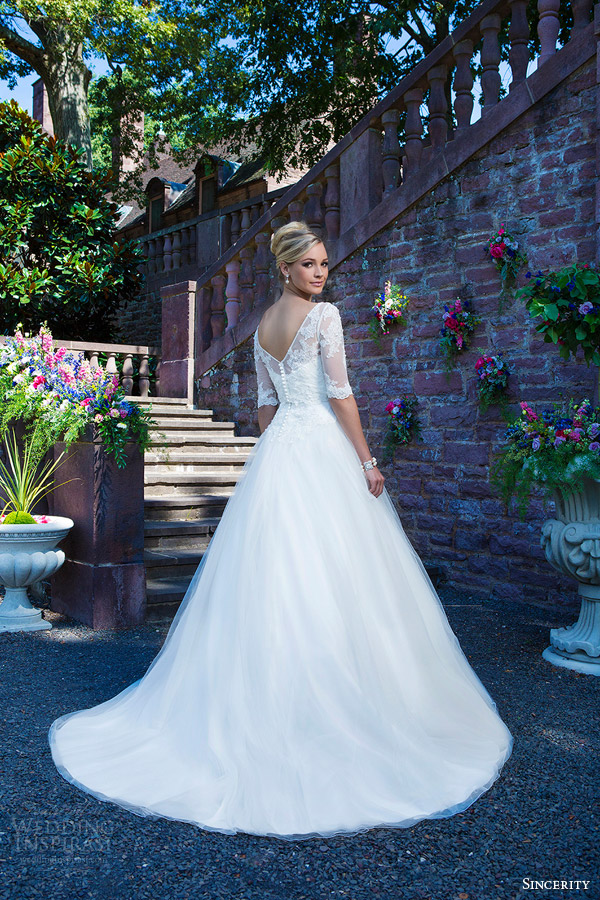 Lace and Tulle Ball Gown Wedding Dresses