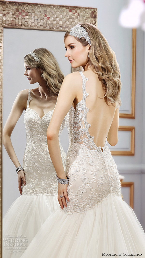 Wedding Dress Thin Lace Straps : Moonlight collection spring wedding dresses