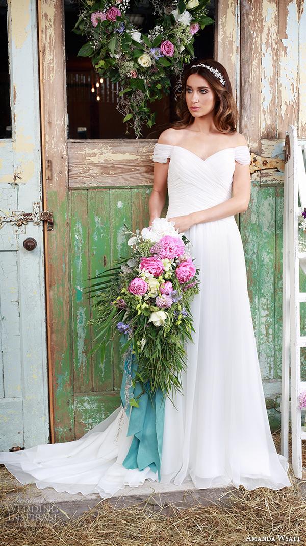 Off The Shoulder Short Wedding Dresses 34 Spectacular amanda wyatt bridal dresses