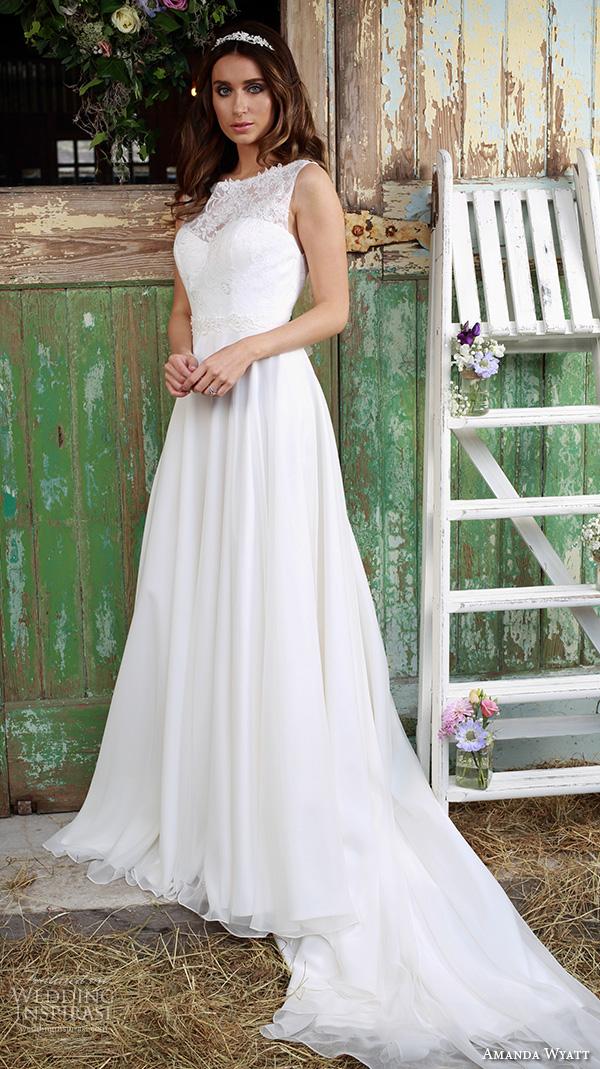 Amanda wyatt 2016 wedding dresses promises of love for Flowy wedding dresses with sleeves