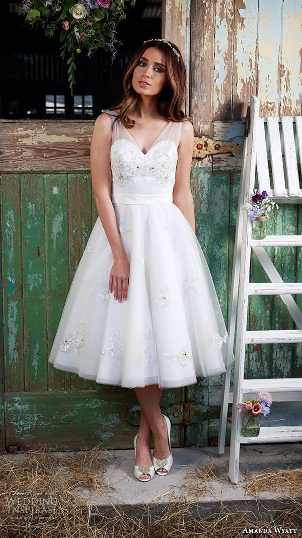Short Tea Length Wedding Dresses 51 Trend amanda wyatt bridal dresses
