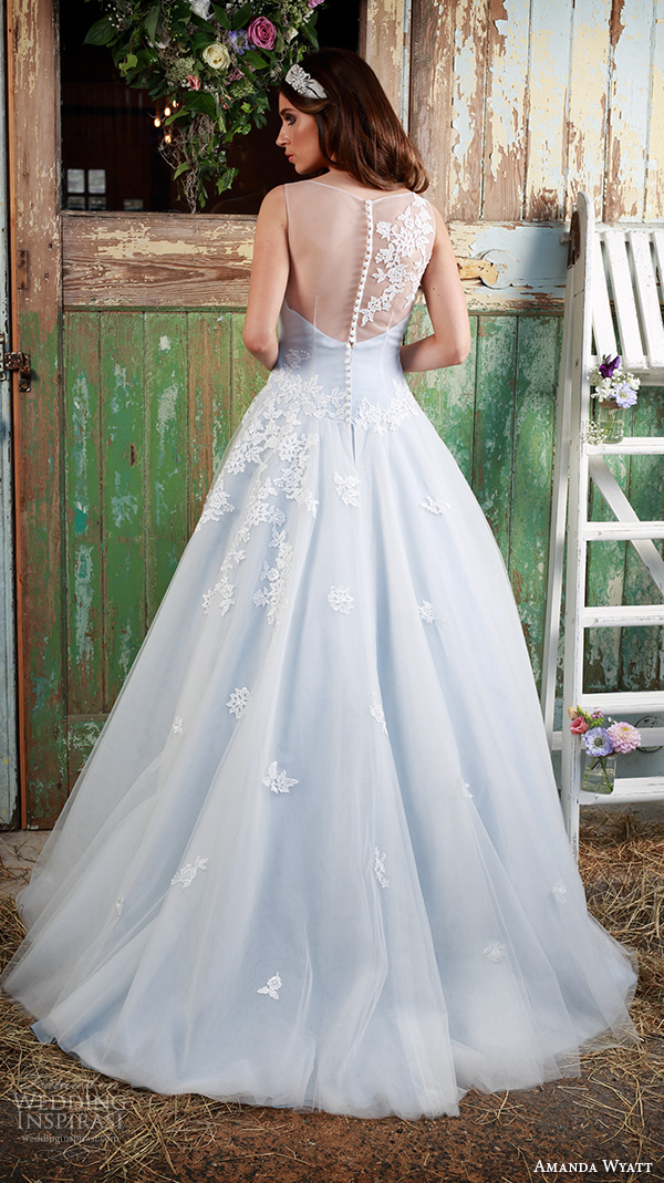 amanda wyatt 2016 bridal dresses pretty  a  line wedding dress illusion sweetheart neckline floral embroidery sheer back style ailsa