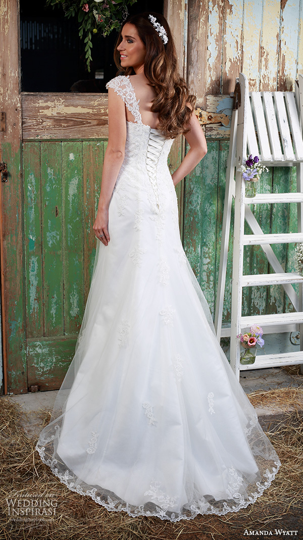 amanda wyatt 2016 bridal dresses pretty a  line wedding dress thick lace strap sweetheart neckline lacing corset back style adore