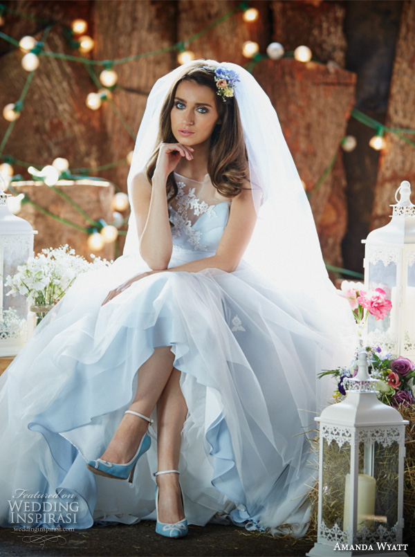 amanda wyatt 2016 bridal dresses pretty  pastel blue a  line wedding dress illusion sweetheart neckline floral embroidery sheer back style ailsa