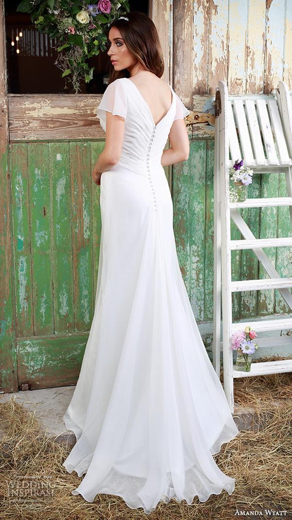 Amanda wyatt 2016 wedding dresses promises of love for Butterfly back wedding dress